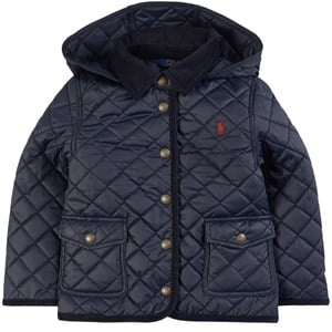 Ralph Lauren Navy Quilted Jacket with Pony Player 2 år