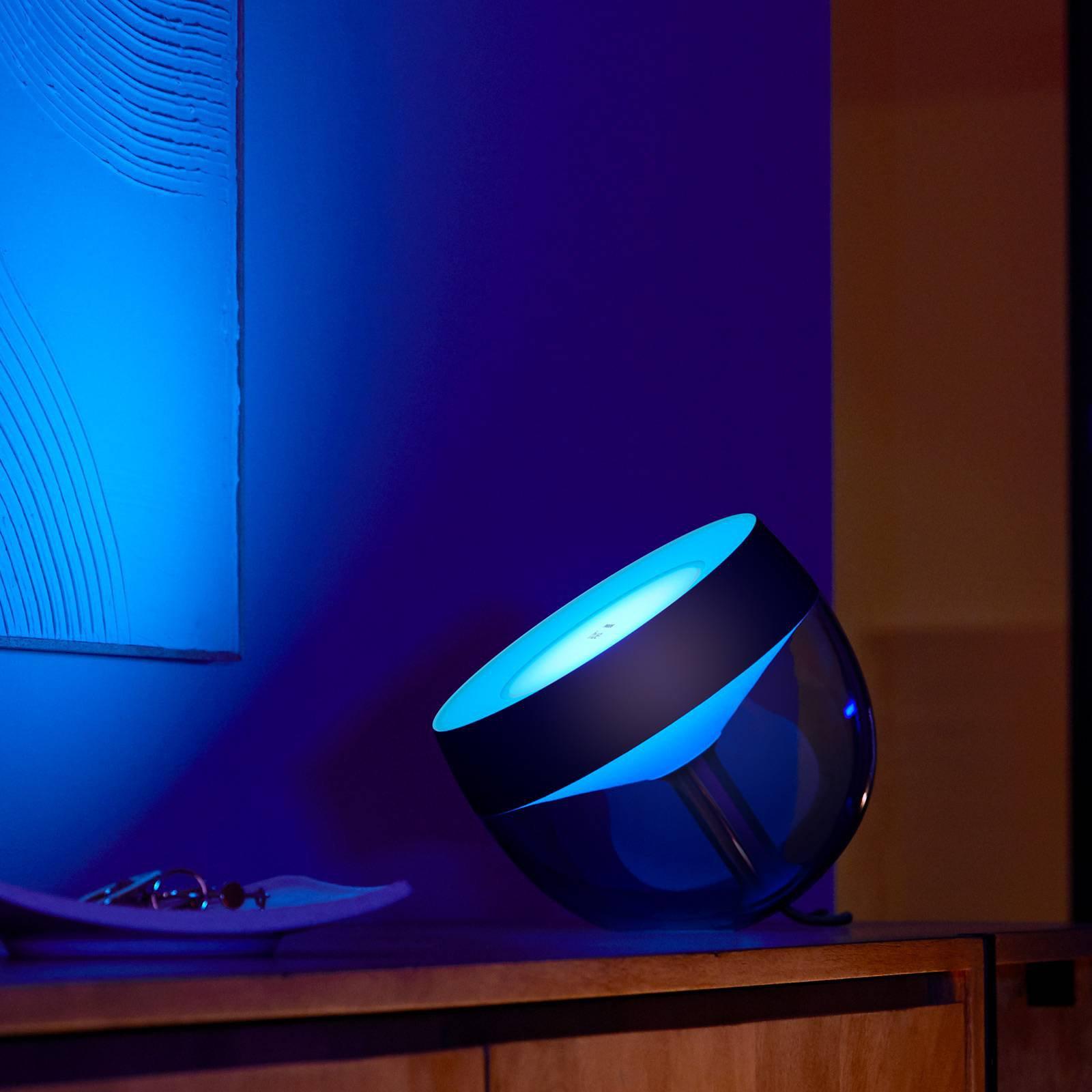 Philips Hue Iris WACA-LED-bordlampe, svart