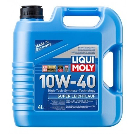 Moottoriöljy LIQUI MOLY SUPER LEICHTLAUF 10W40 4L
