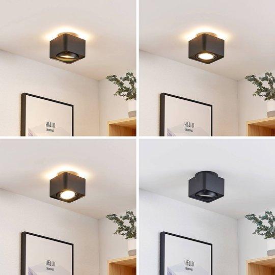 Arcchio Talima LED-taklampe, kantet, svart