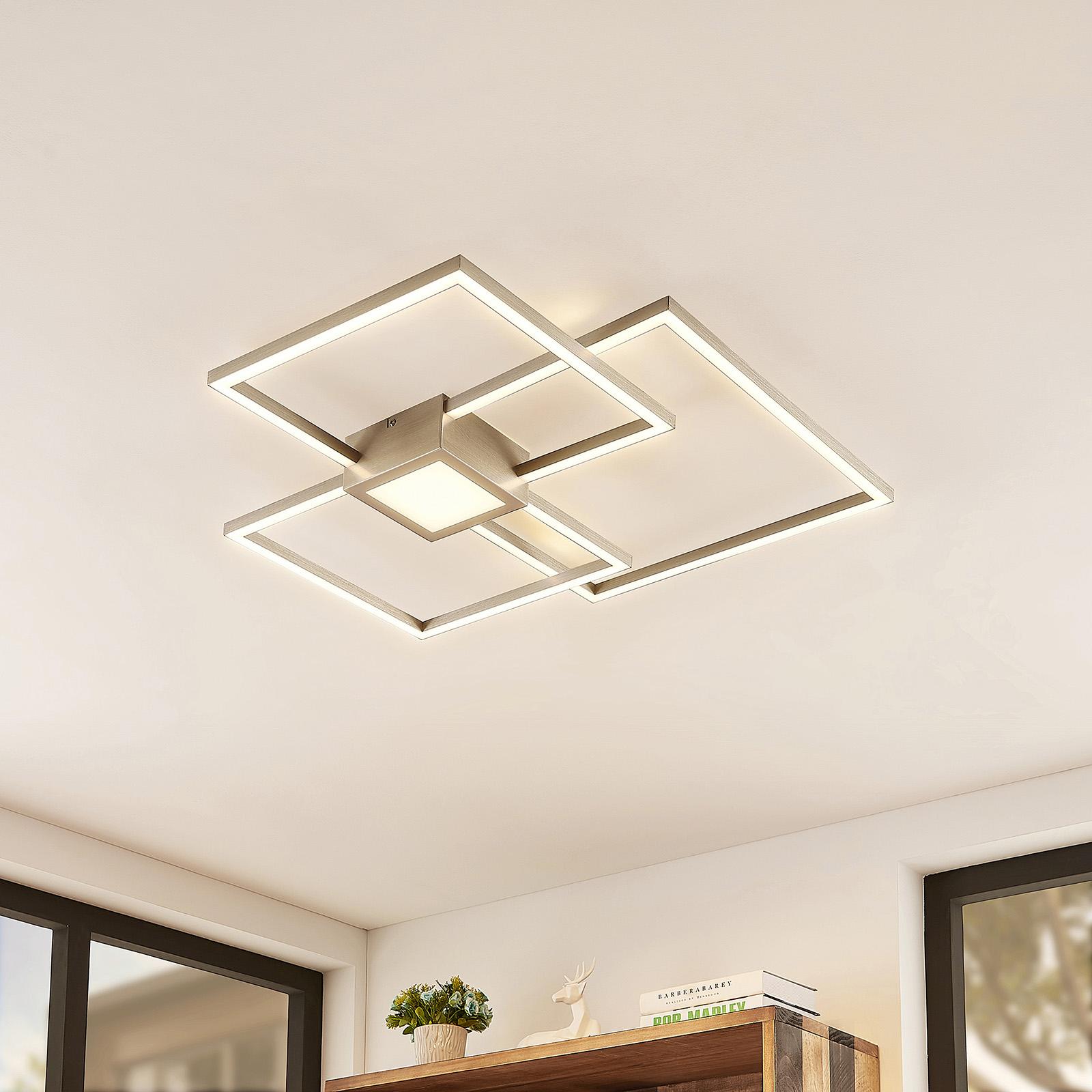 Lindby Duetto -LED-kattovalaisin nikkeliä, 38 W