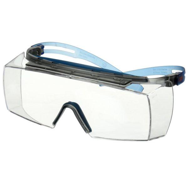3M Secure fit 3700 Vernebriller Blå brillestang, klar linse
