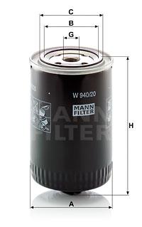 Öljynsuodatin MANN-FILTER W 940/20