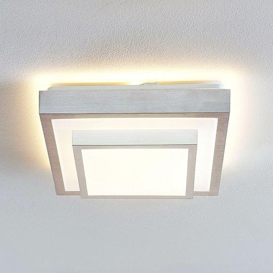 Lindby Mirco LED -kattovalaisin kulmikas, 32 cm