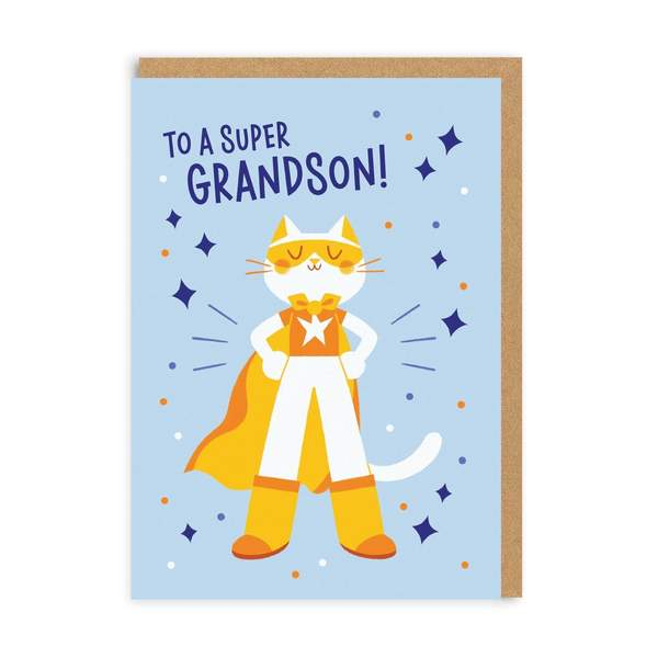 Super Grandson Greeting Card