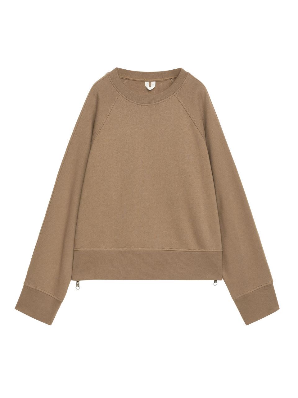 Boxy Sweatshirt - Beige