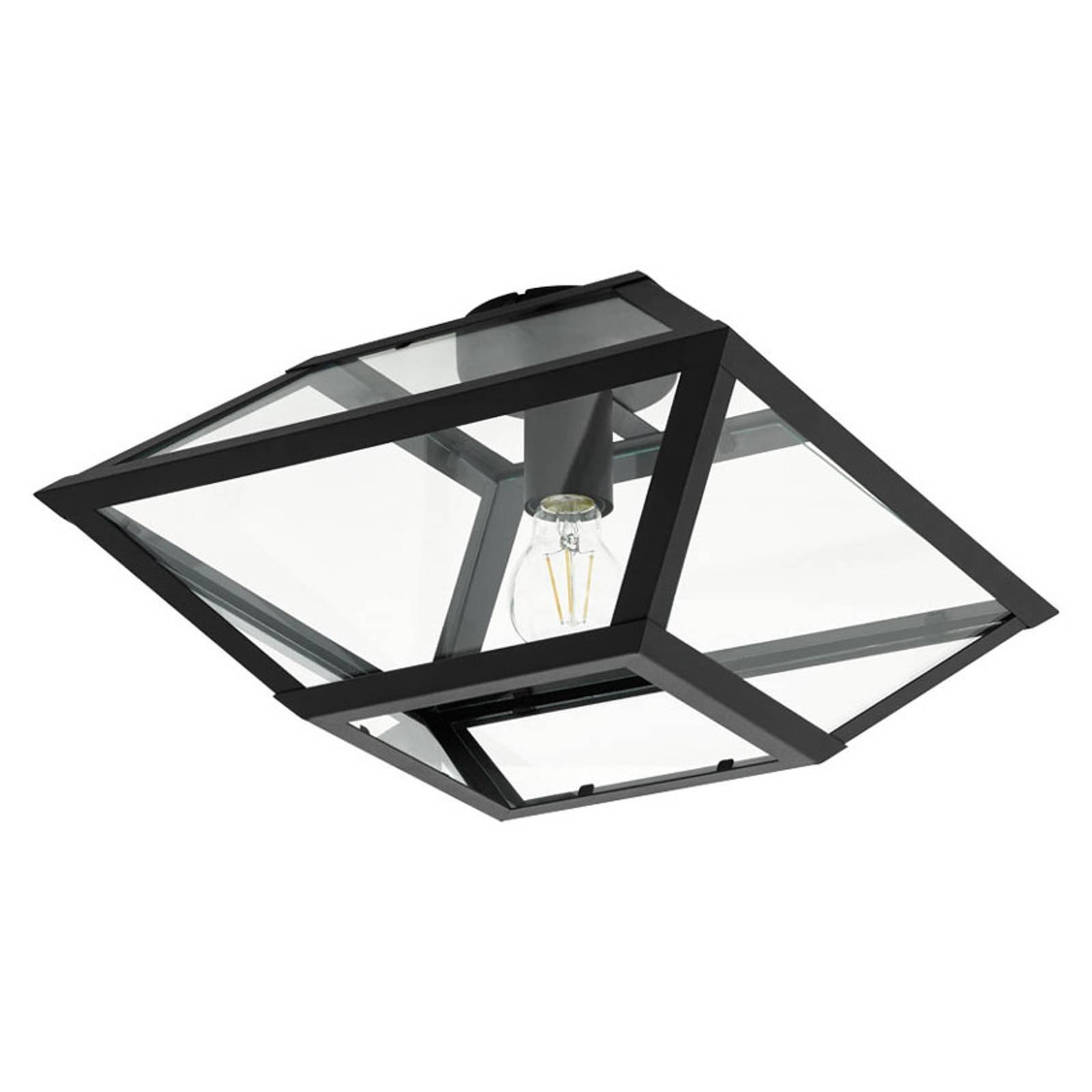 Taklampe Casefabre av stål, 37x37 cm