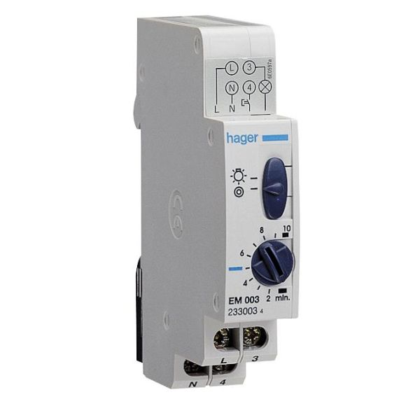 Hager EMN001 Porrasvaloautomaatti sulkeutuvalla koskettimella