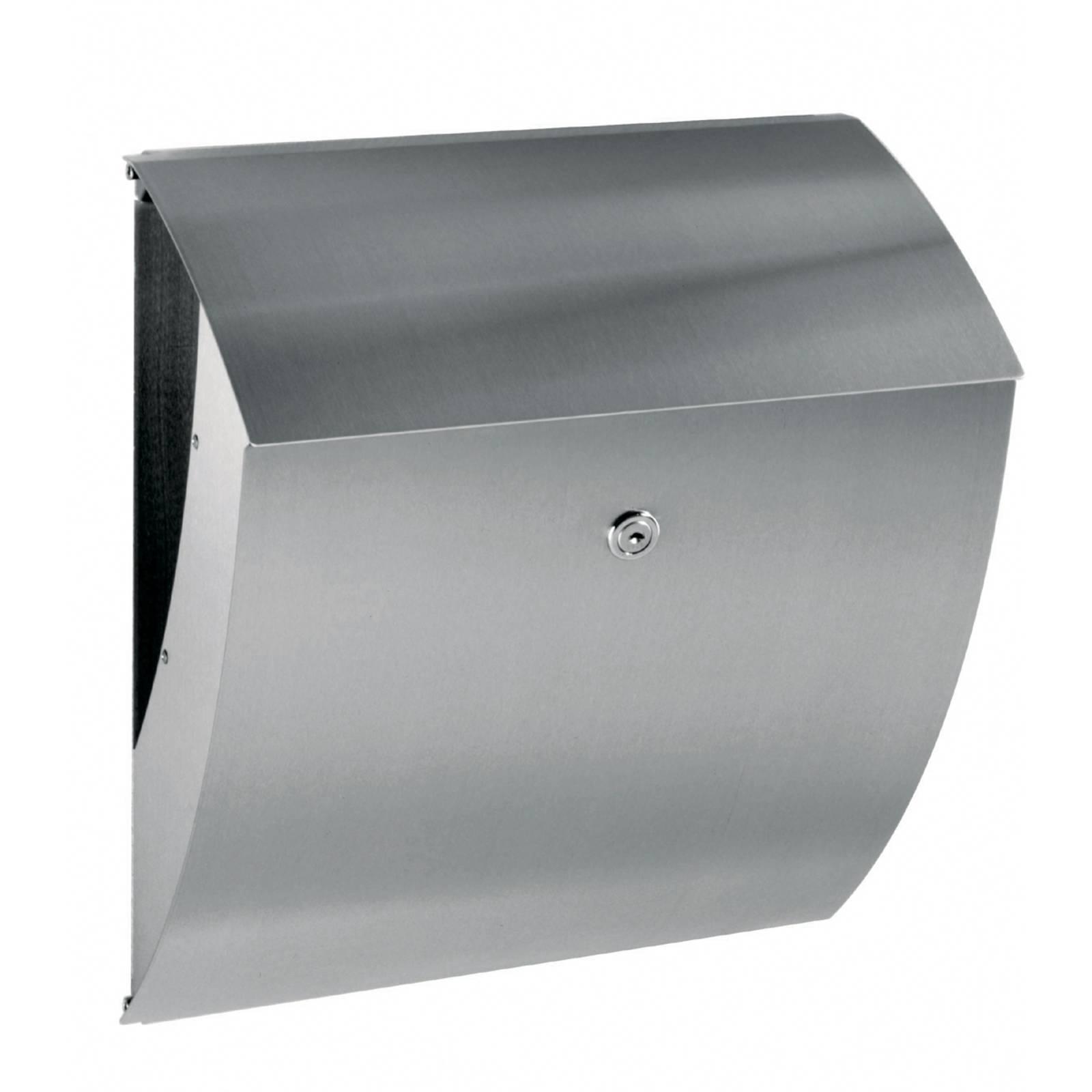 Moderni Merlin-postilaatikko ruostumatonta terästä