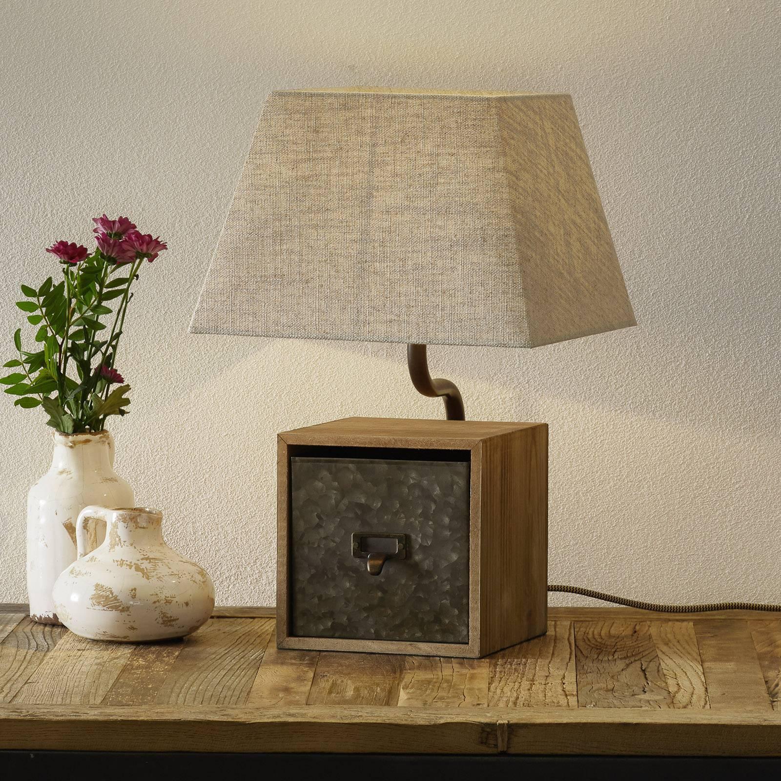 Bordlampe Cassetto med skuff, høyde 46 cm