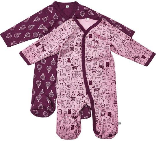 Pippi Pysjamas 2-pack, Lilac 50