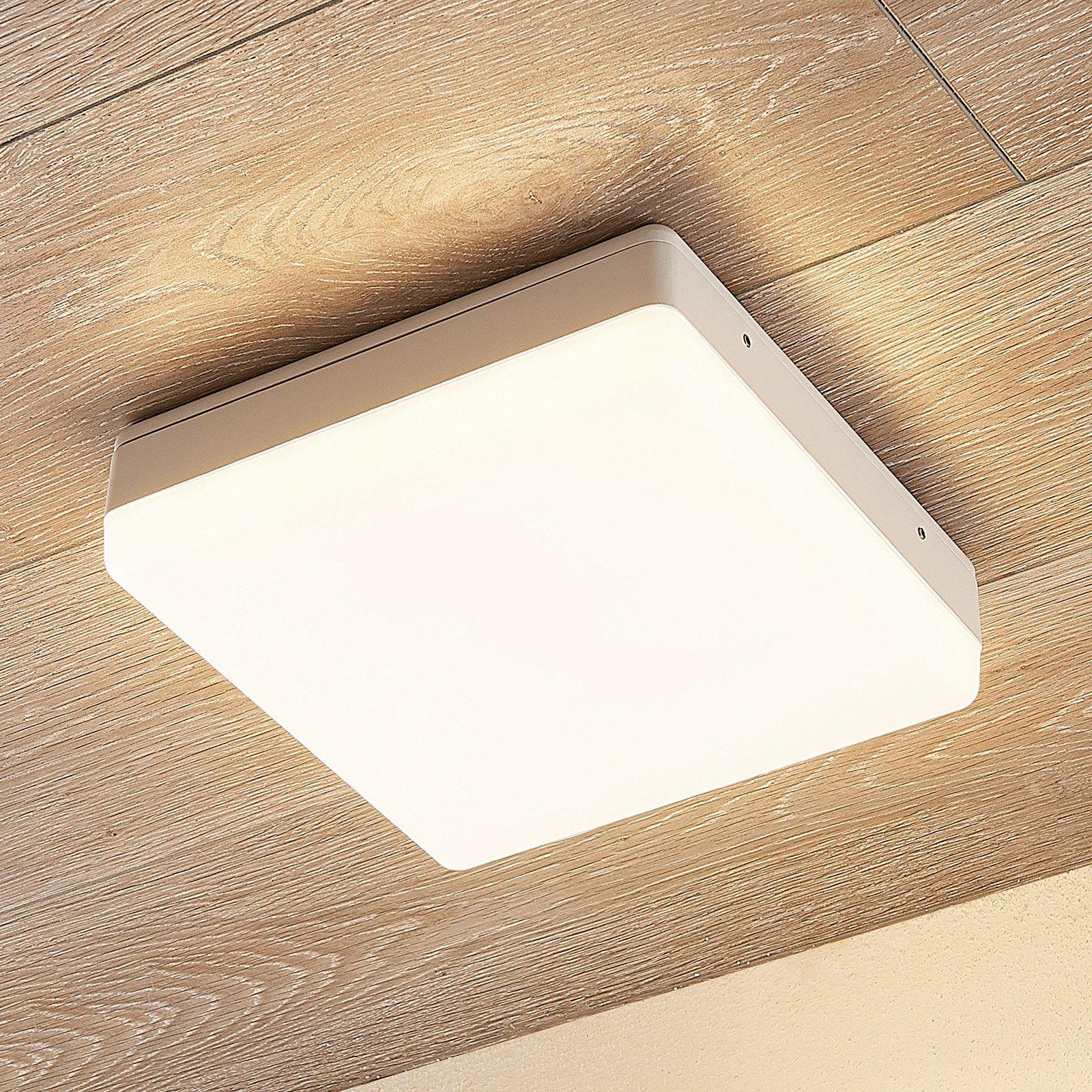 LED-taklampe Thilo, IP54, hvit, 24 cm