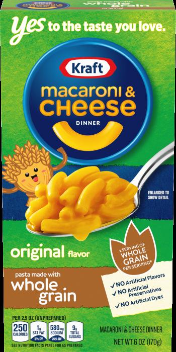 Kraft Macaroni & Cheese Whole Grain Original 170g