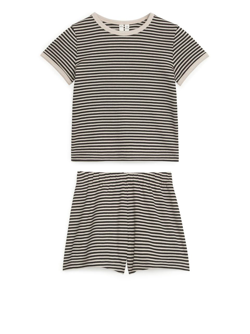 Short Jersey Pyjama Set - Black