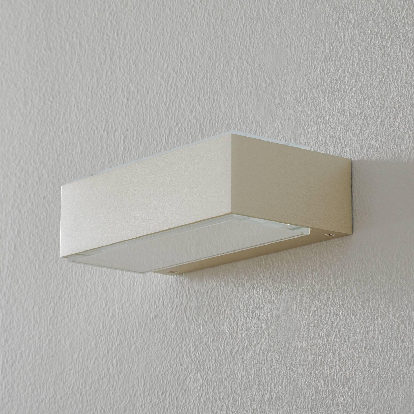 BEGA 12277 LED-vegglampe 3 000 K 20 cm palladium