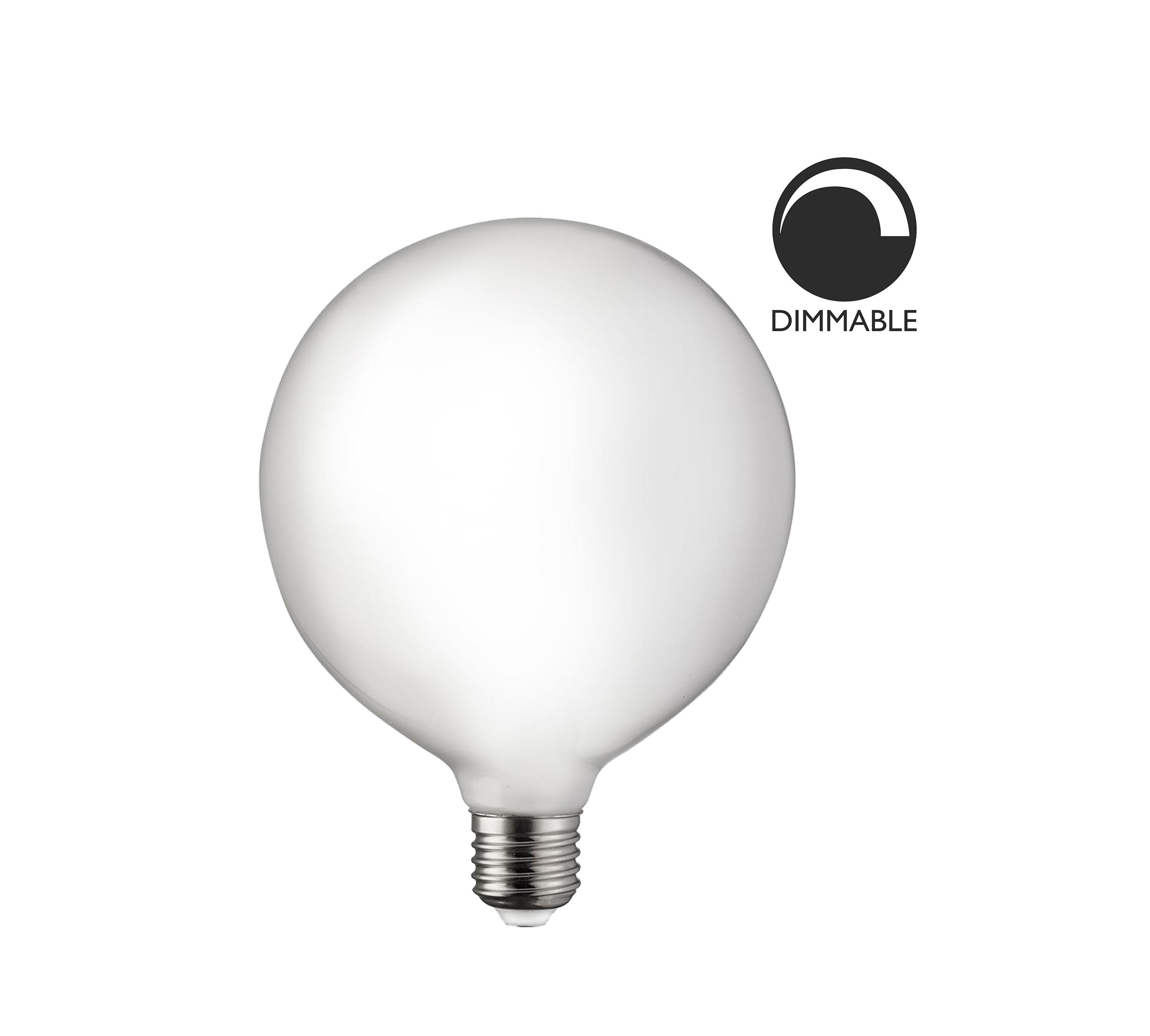 Stor klot LED lampa Opal 125 mm dimbar, Globen Lightning