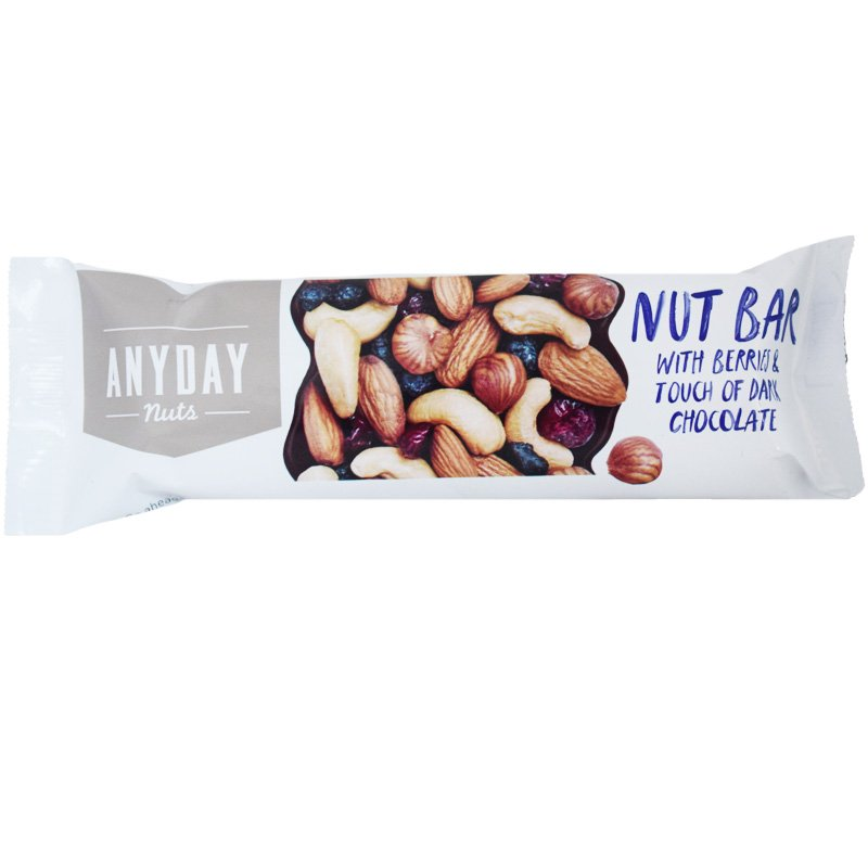 """Pähkinäpatukka """"Berries & Dark Chocolate"""" 44g - 27% alennus"""