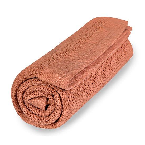 Vinter & Bloom - Filt Soft Grid Blanket ECO - Blush Rose