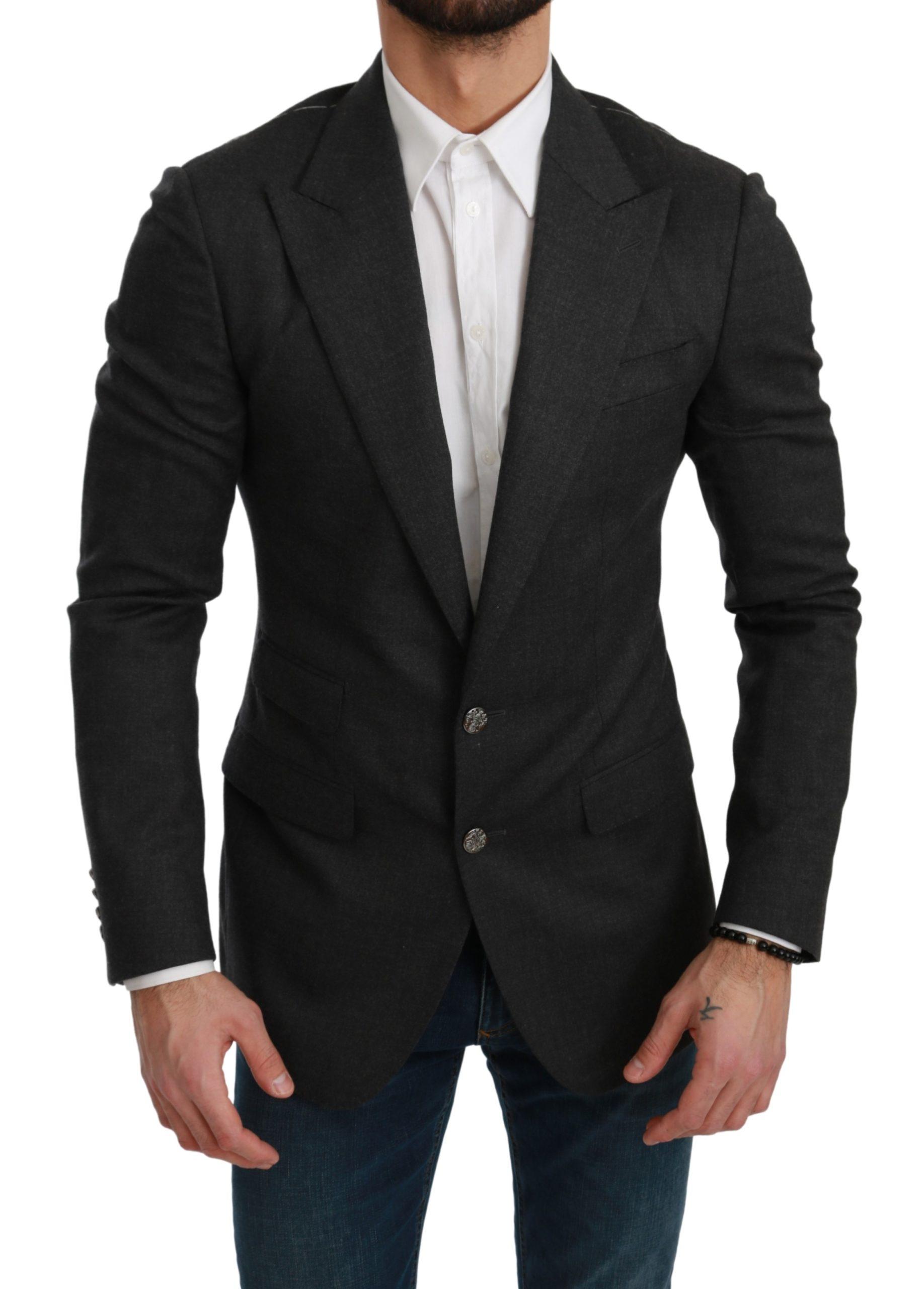 Dolce & Gabbana Men's NAPOLI Slim Fit Wool Blazer Gray KOS1772 - IT46 | S