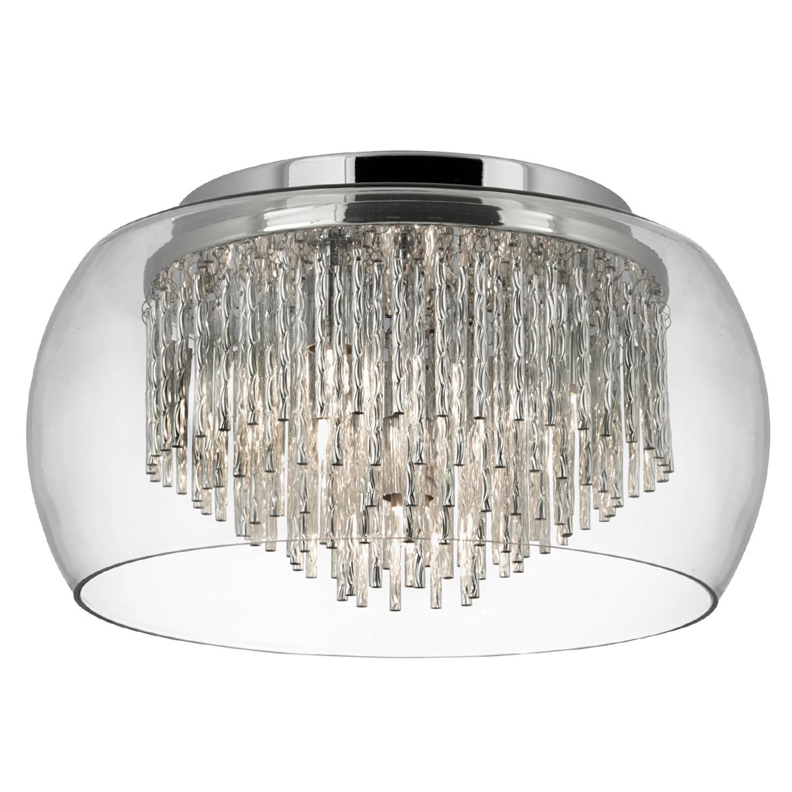 Lasinen Curva-kattovalaisin alumiiniriipuksilla