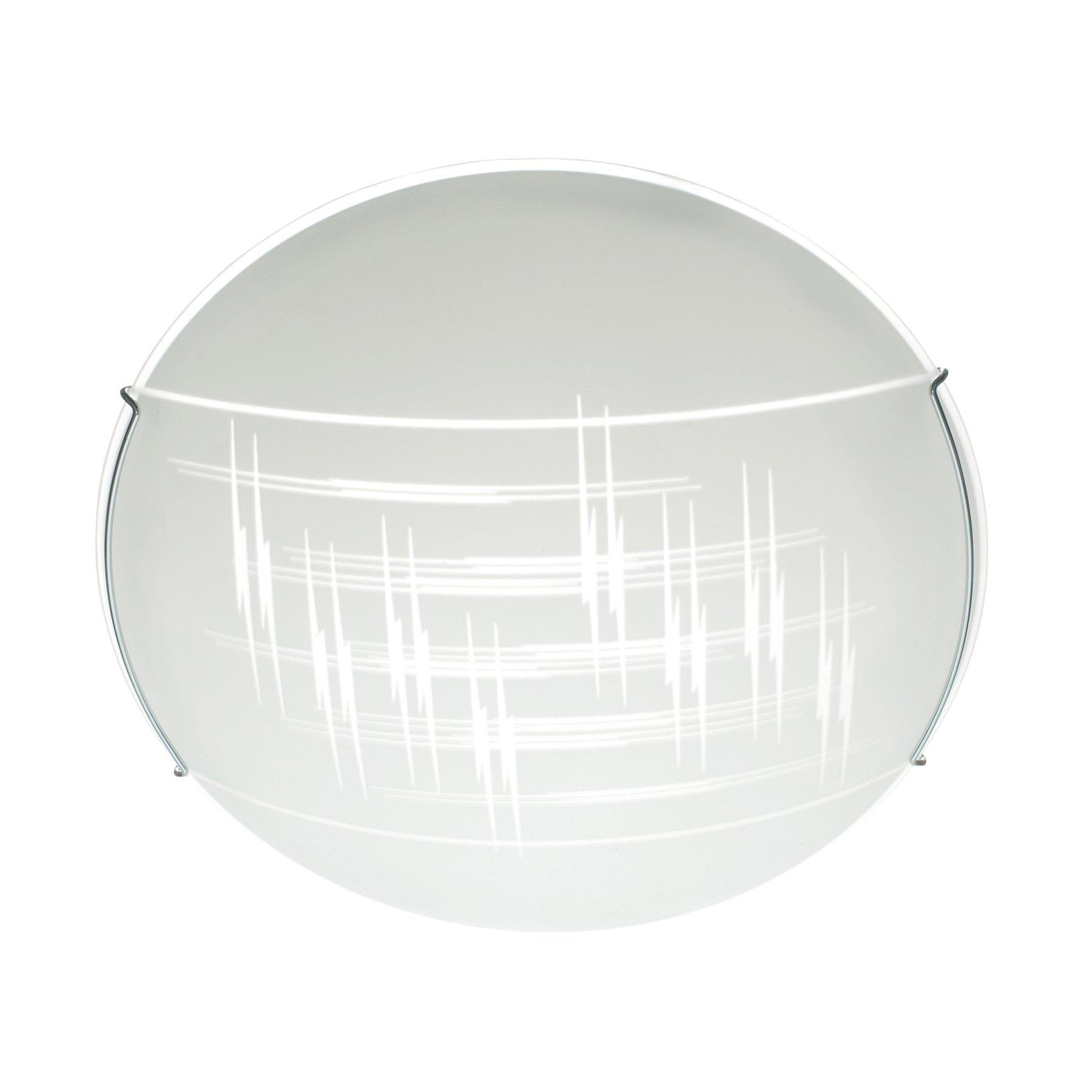Taklampe Scratch av glass, Ø 40 cm