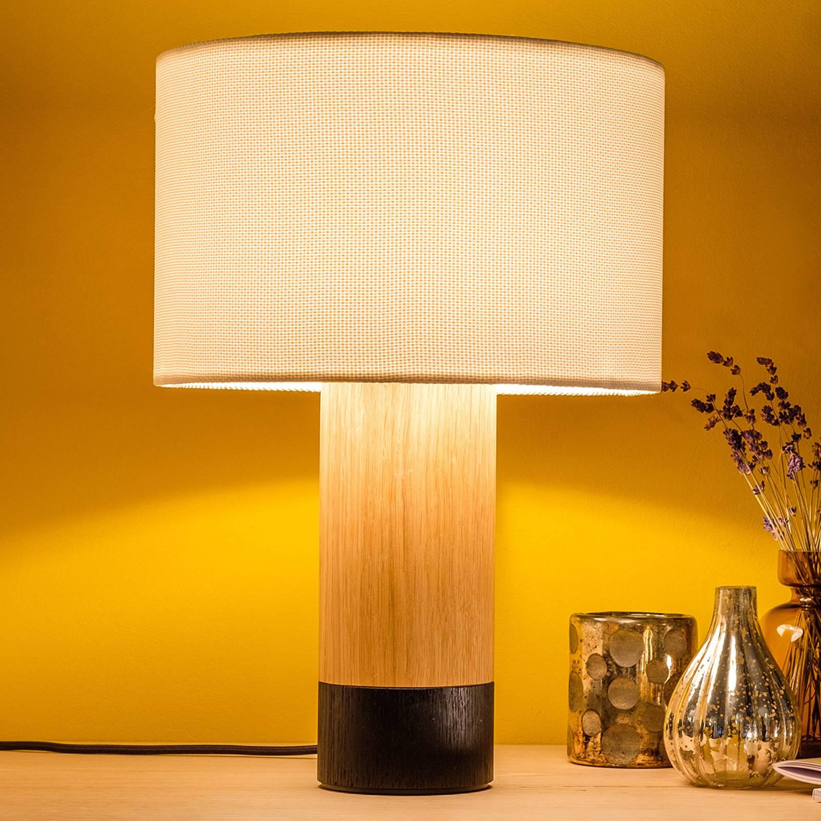 Pöytälamppu Klippa musta Trooper Alabaster, 41 cm