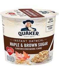 Quaker Instant Oatmeal Maple & Brown Sugar Cup 48g