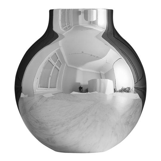 Skultuna - Boule Vas stor Silver