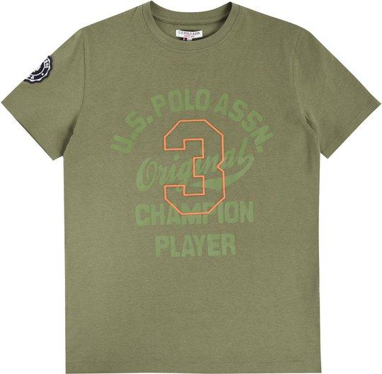 U.S. Polo Assn. Champion Player T-Shirt, Light Olive 6-7år