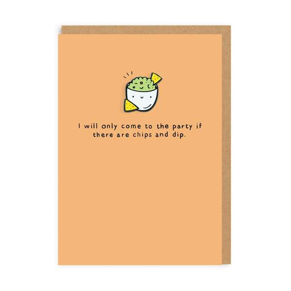 Chips & Dip Enamel Pin Greeting Card