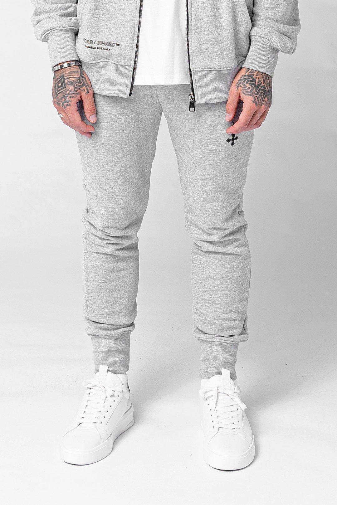 Base Essential Men's Joggers - Grey Marl, Medium