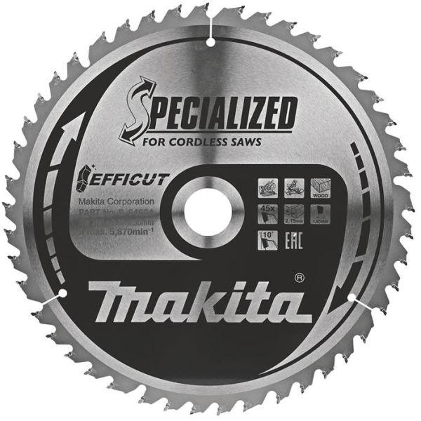 Makita B-64624 Sagblad 260 mm, 45 tenner
