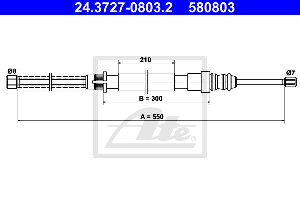 Käsijarruvaijeri ATE 24.3727-0803.2