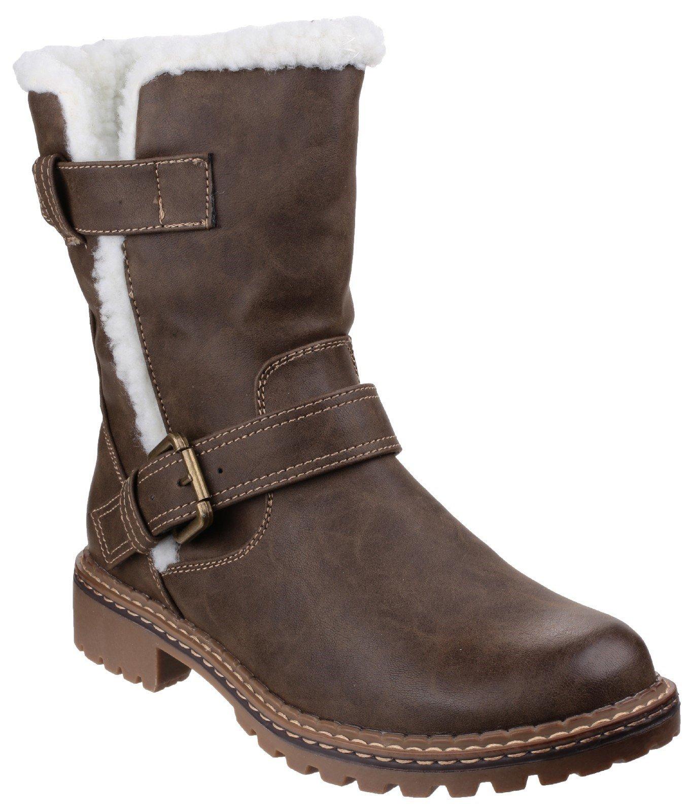 Divaz Women's Nardo Pull On Boot Black 22806-37230 - Brown 3