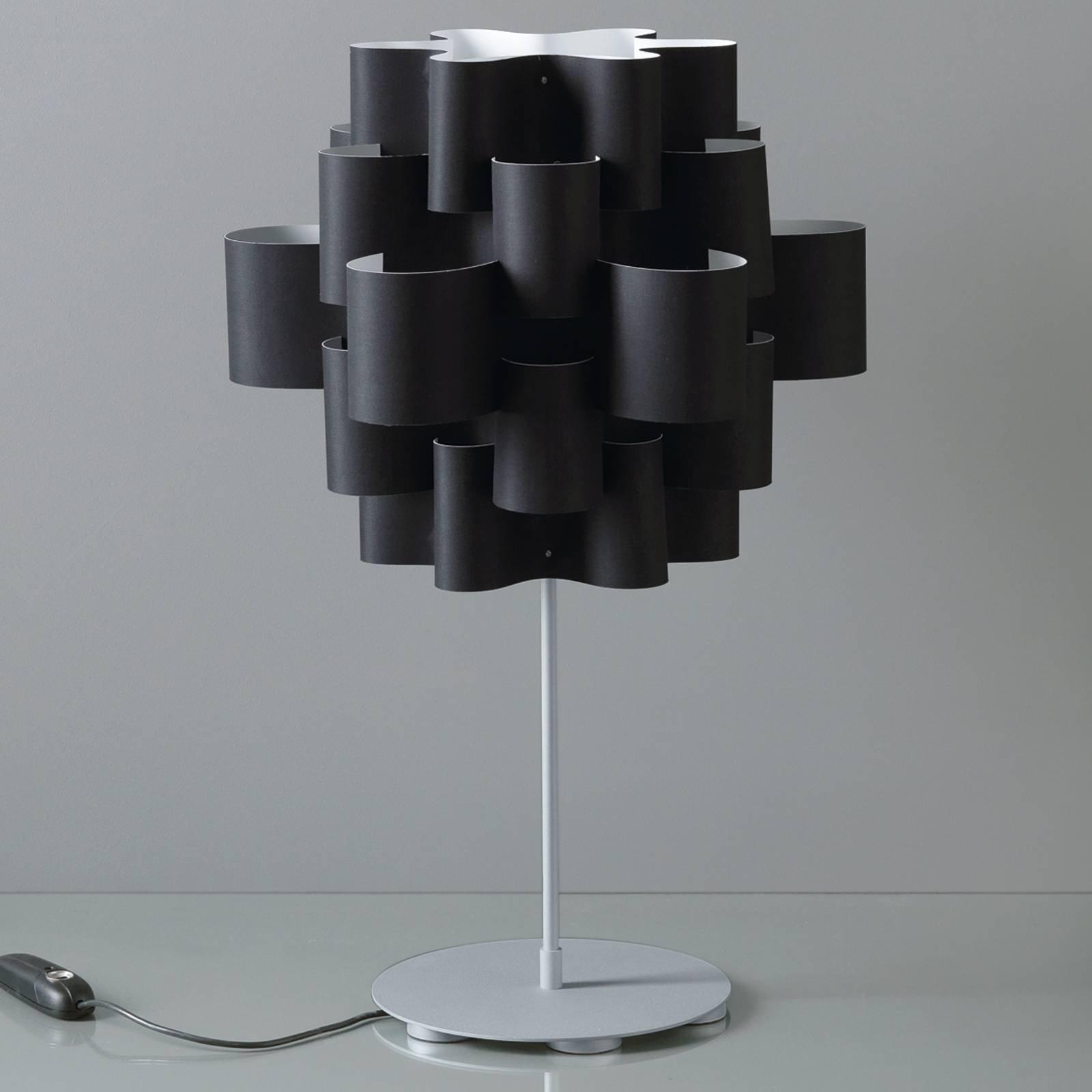 Desoigner-bordlampe, svart