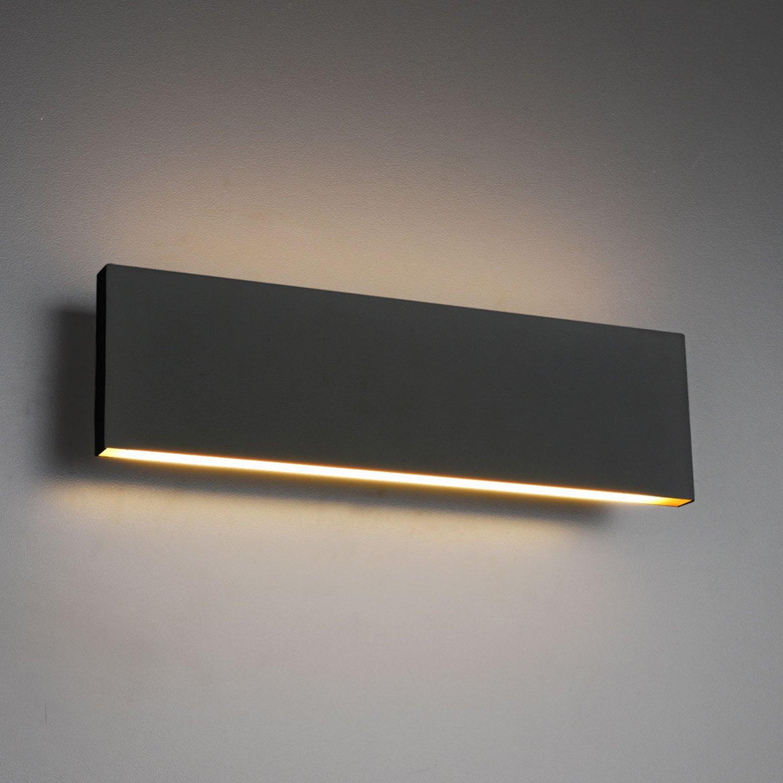 LED-vegglampe Concha 28 cm, antrasitt