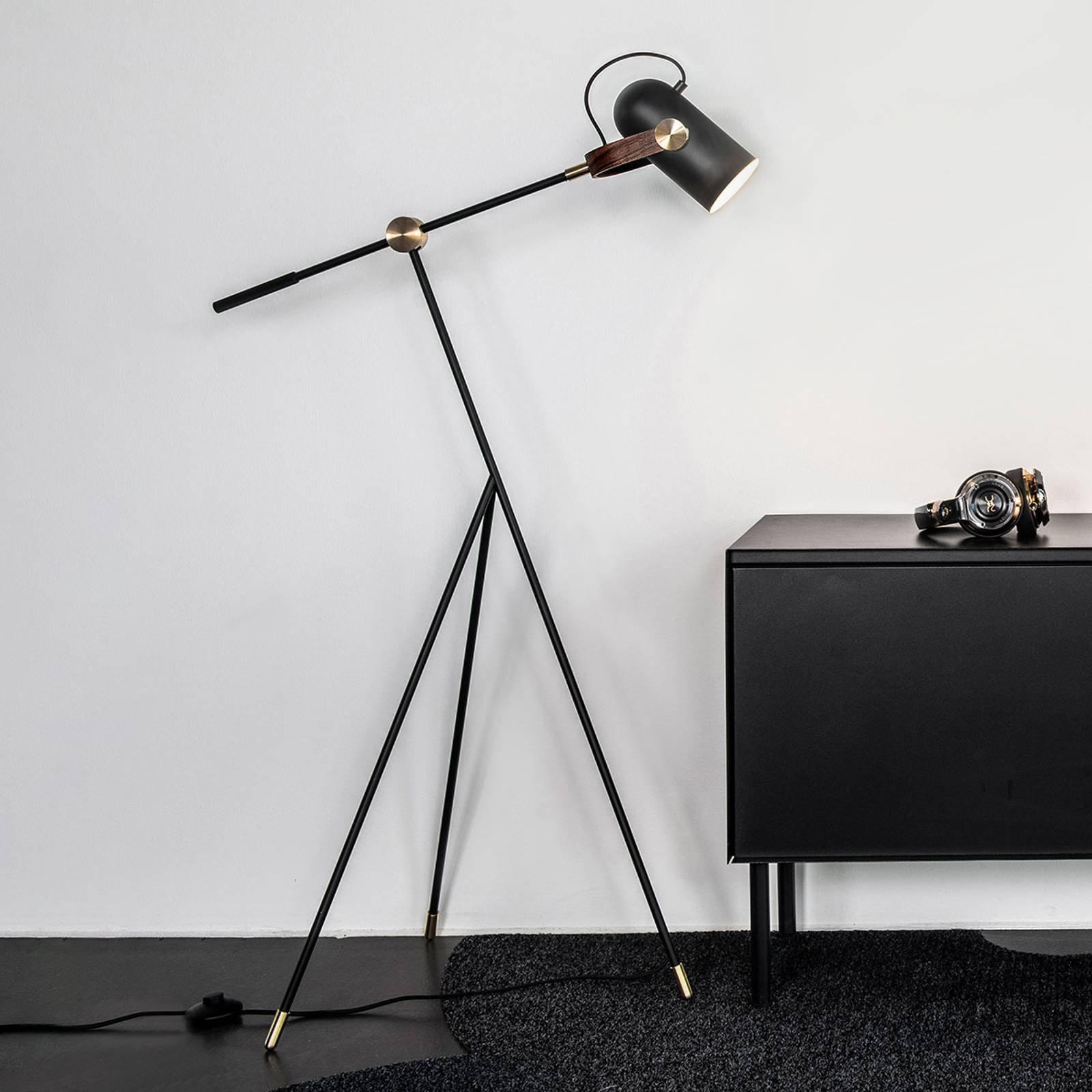 LE KLINT Carronade Low - svart gulvlampe
