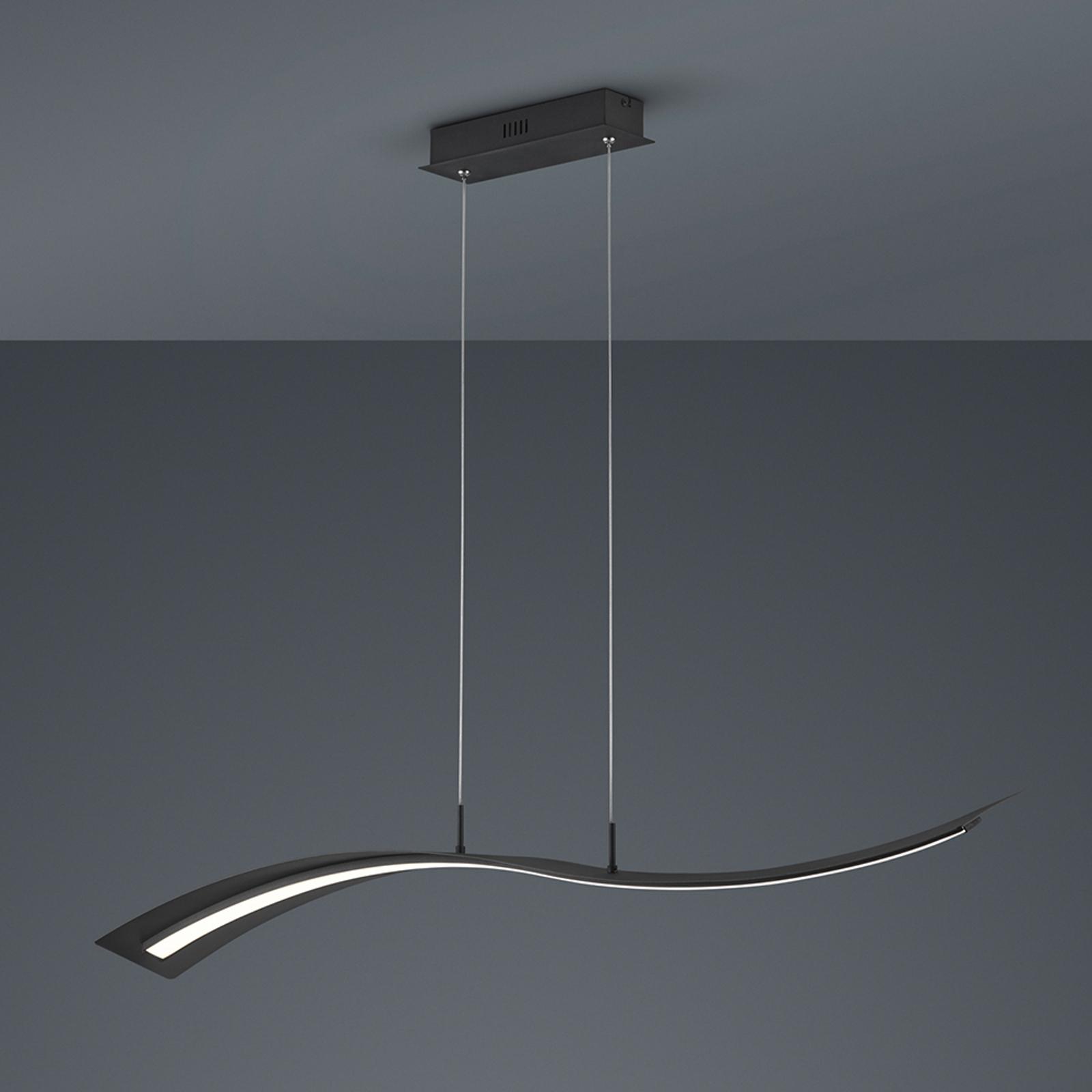 LED-riippuvalo Salerno, SwitchDim, matta musta