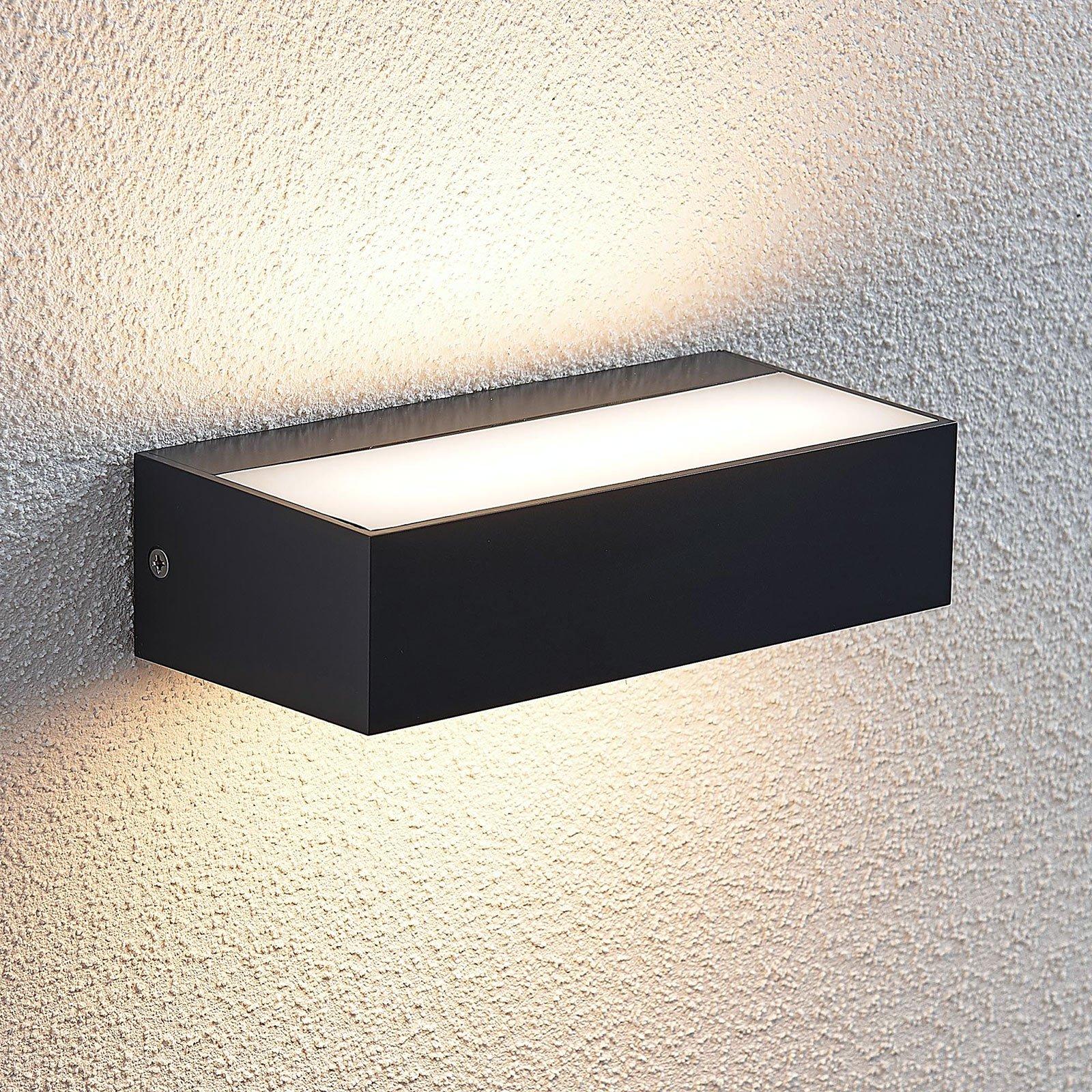 Utendørs LED-vegglampe Nienke, IP65, 17 cm