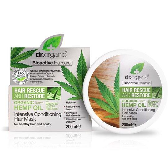 Dr. Organic Hemp Oil Intensive Conditioning Hair Mask, 200 ml
