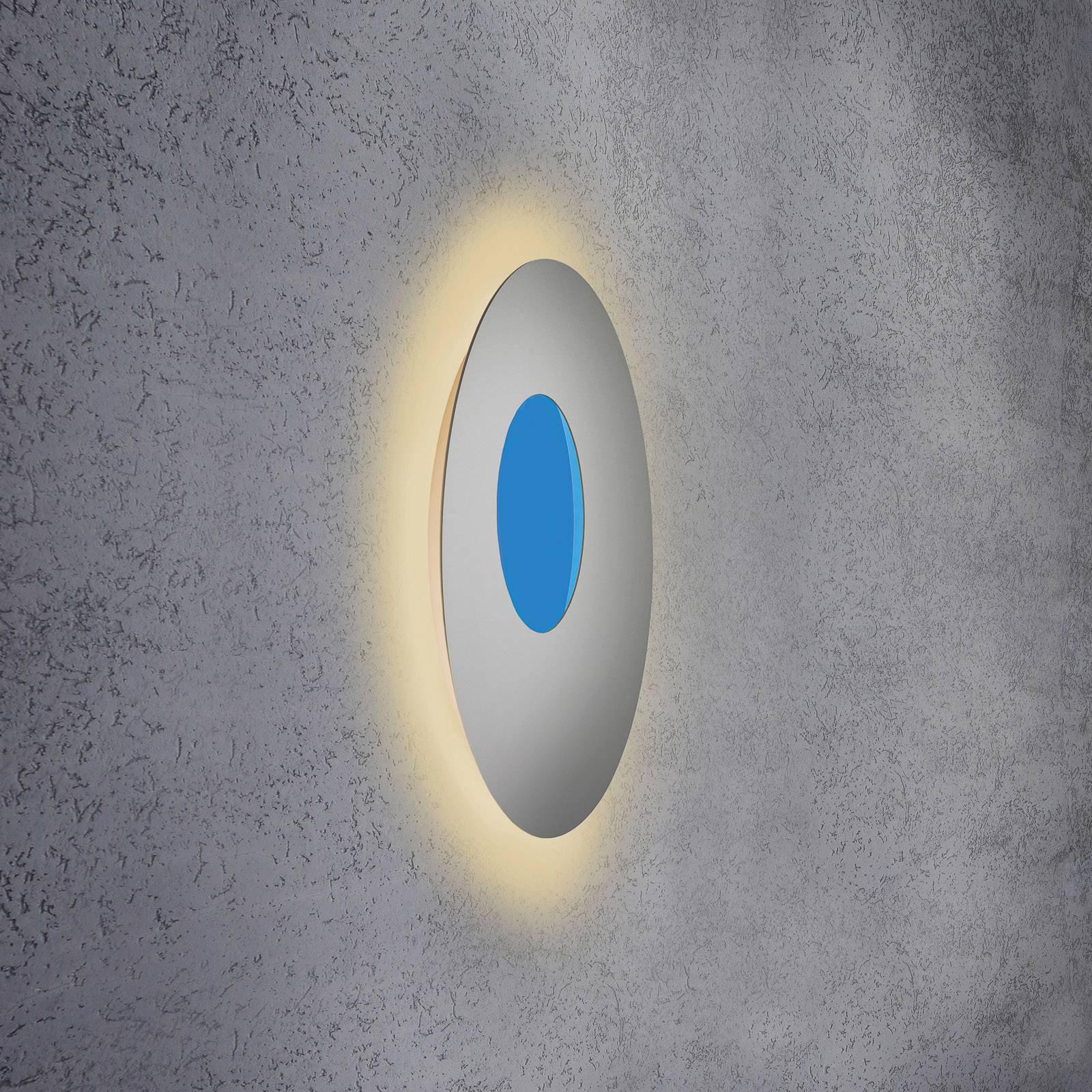 Escale Blade Open LED-vegglampe RGB+W, sølv, Ø59cm