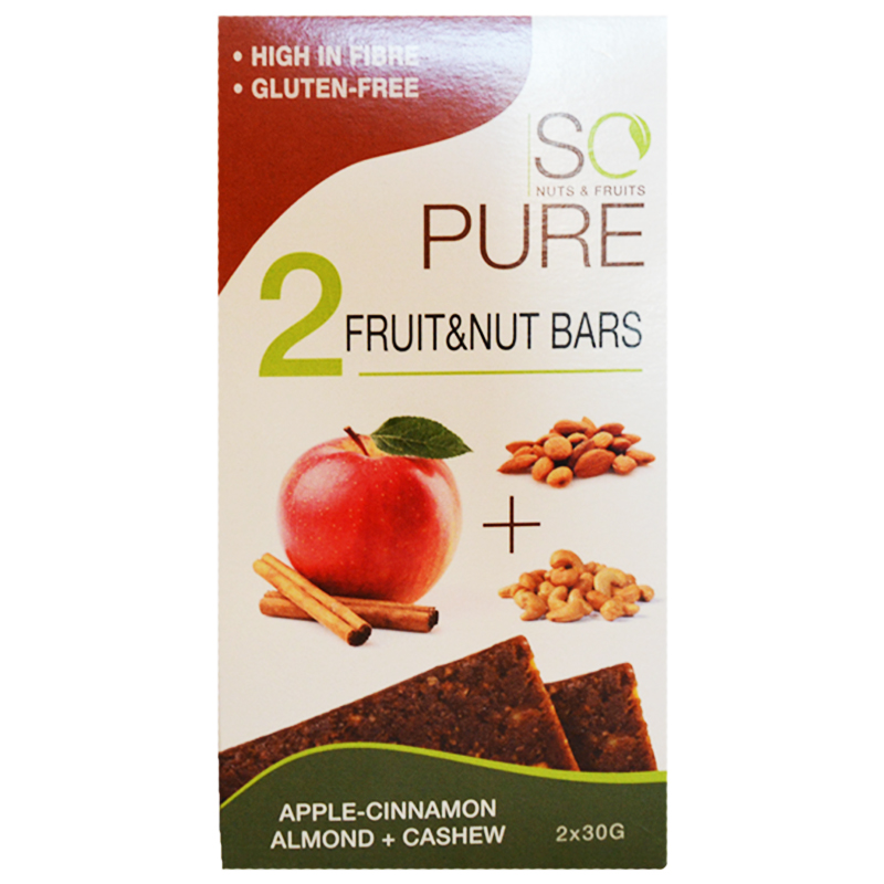 """Pähkinäpatukat """"Apple & Cinnamon"""" 2 x 30 g - 74% alennus"""