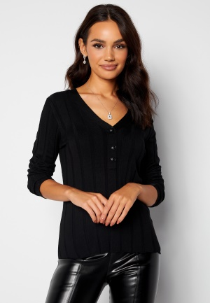 Happy Holly Anabelle Knitted collar Top Black 32/34