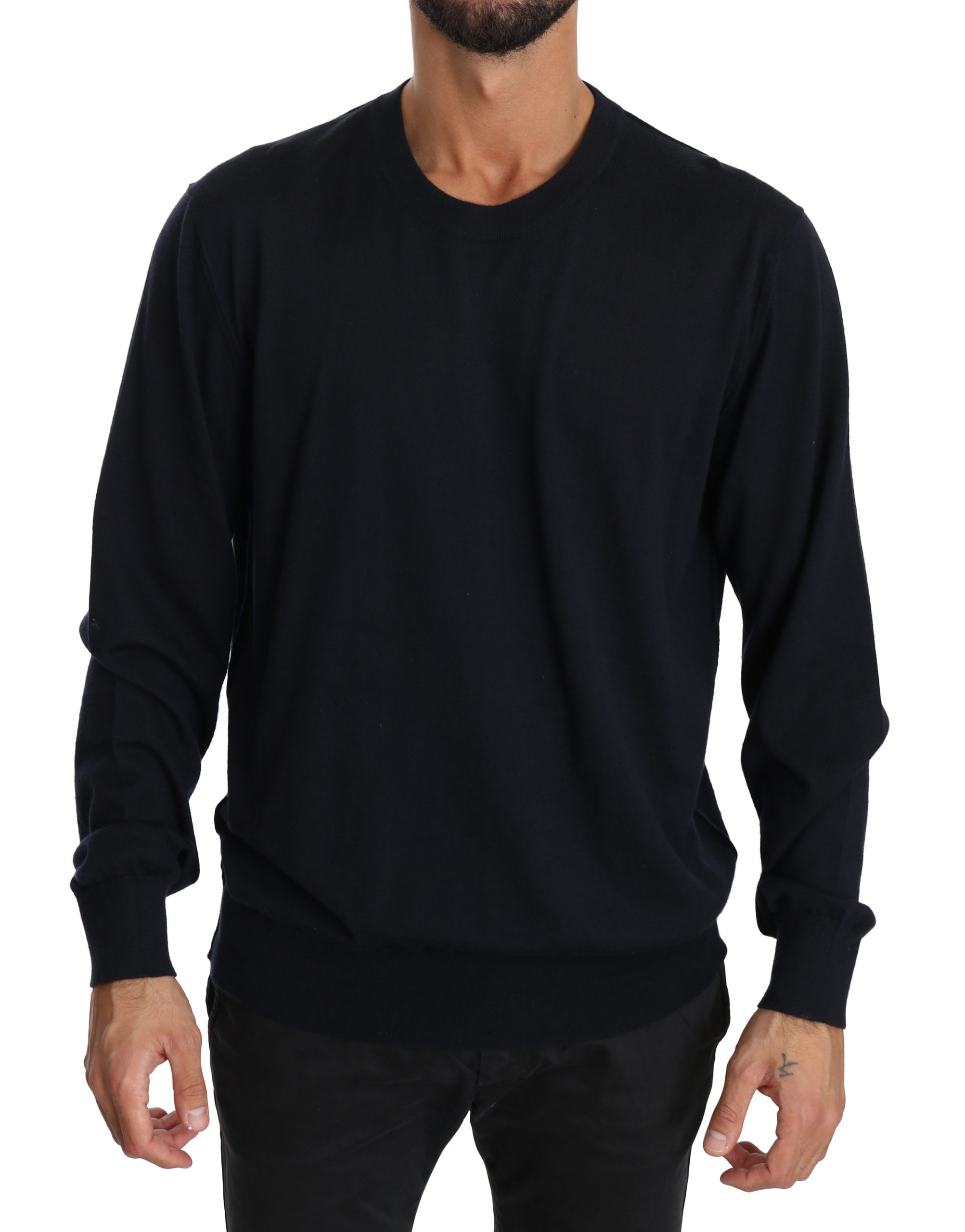 Dolce & Gabbana Men's Cashmere Crewneck Pullover Sweater Blue TSH3940 - IT52   XL