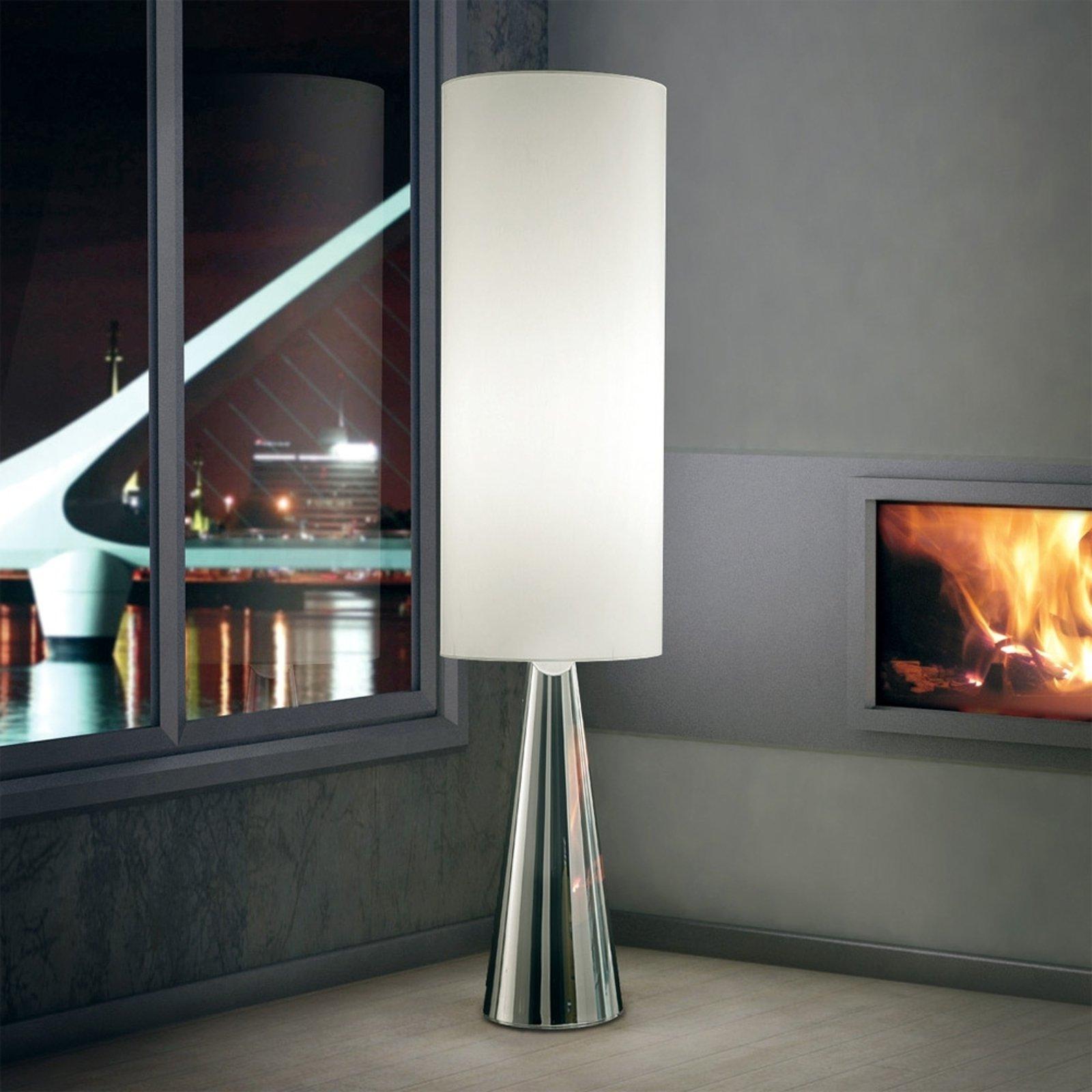 Sylinderformet stålampe Totem