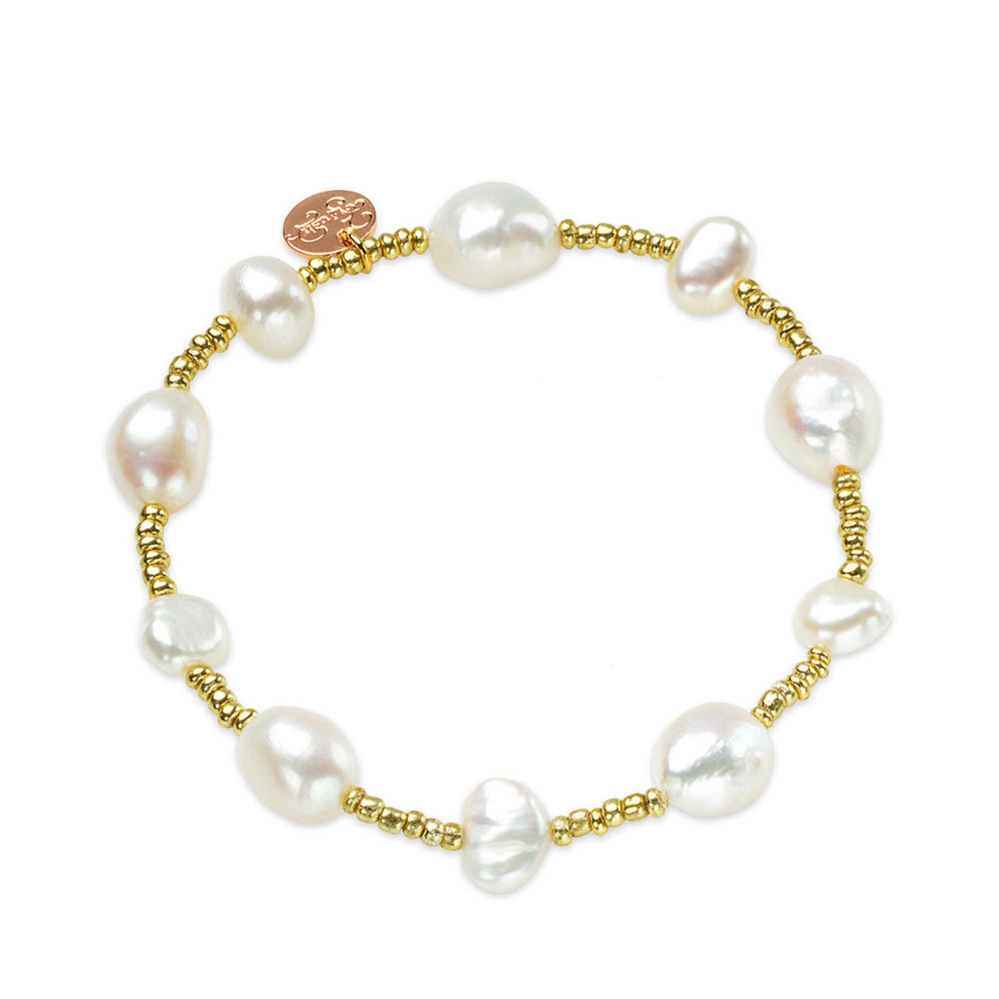 Blush Golden Pearl Bracelet, ONE SIZE
