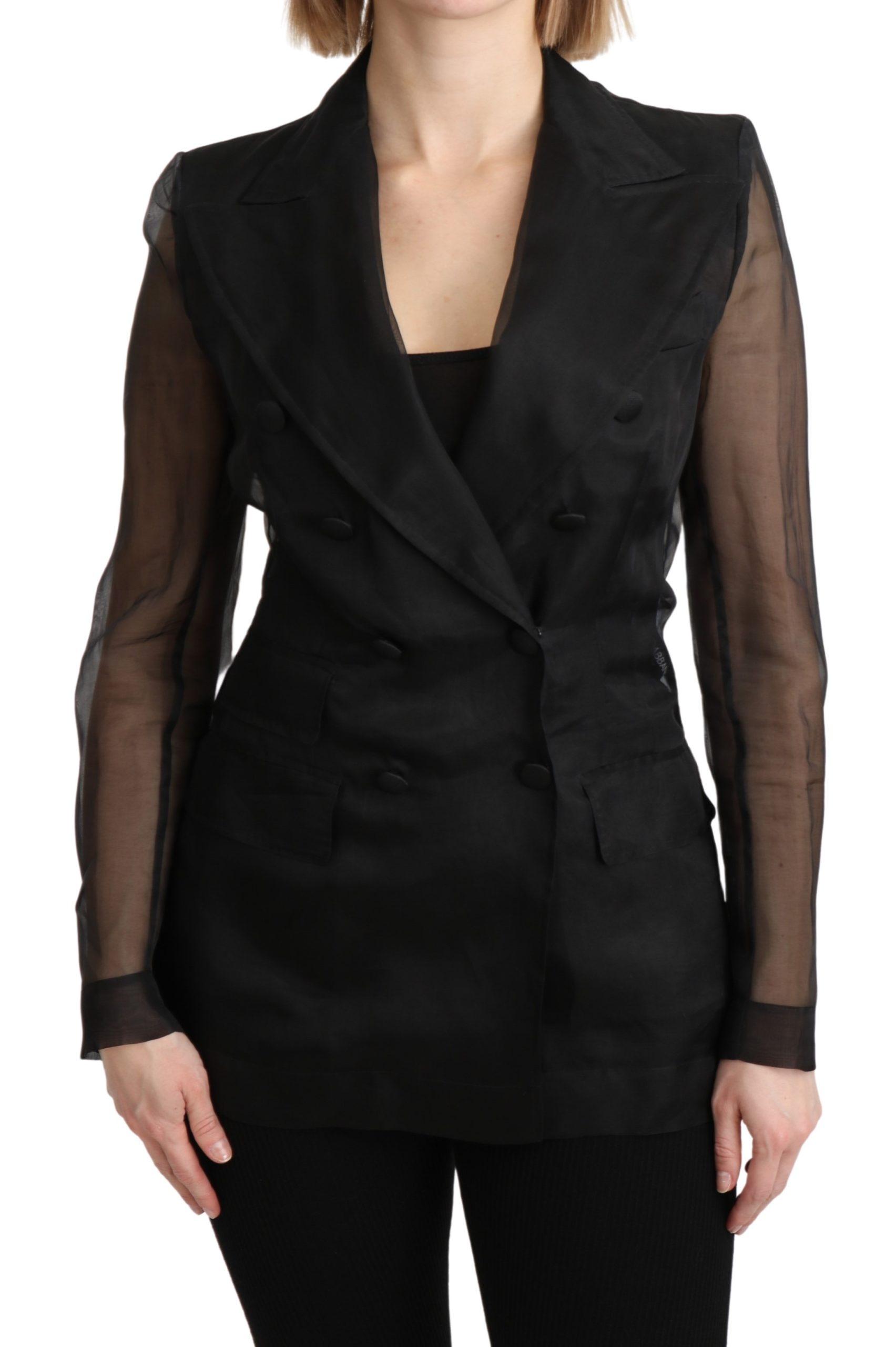 Dolce & Gabbana Women's Double Breasted Blazer Black KOS1797 - IT38 XS
