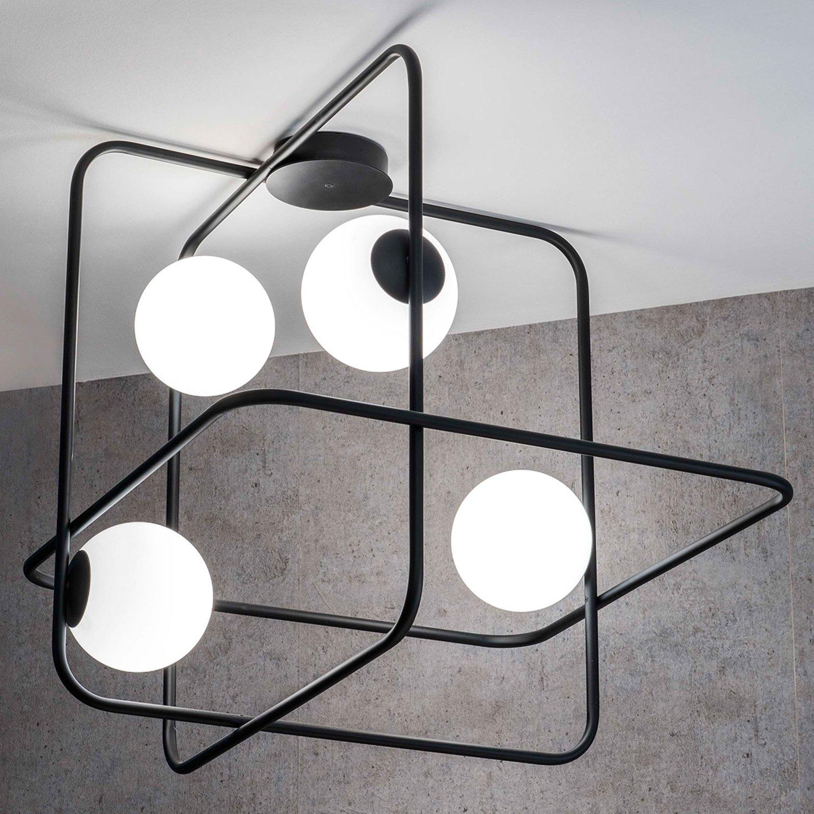 Intrigo taklampe kvadratisk svart