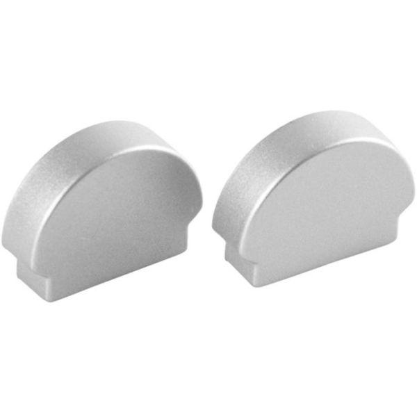 Hide-a-Lite Curl Endestykke til aluminiumsprofiler, 2-pakk