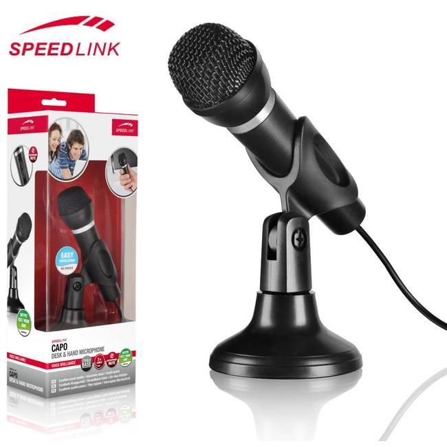Speedlink Capo Desktop / Handheld Microphone with 3.5mm Jack